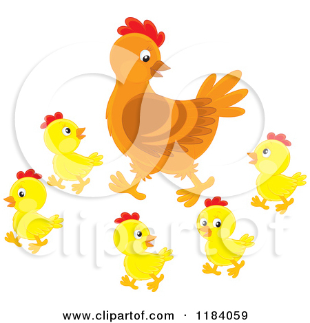 Chick and hens clipart - Clipground