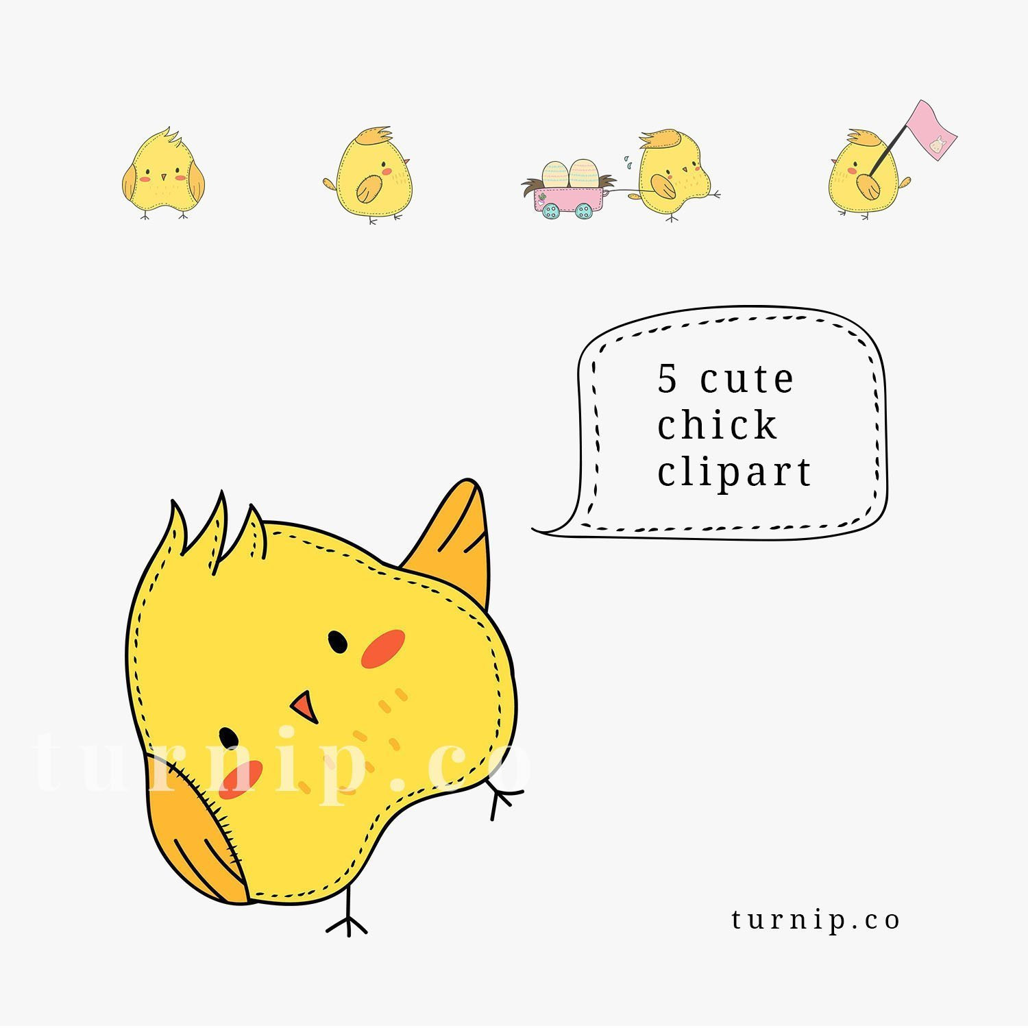 Cute Chick Clipart, Baby Chick Clipart, Easter Chick Clip Art, Yellow Chick  Clipart, Little Chick Clip Art, Commercial Use Clip Art.