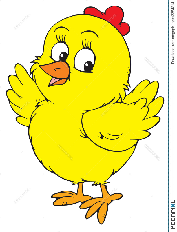 Yellow Chick (Vector Clip.