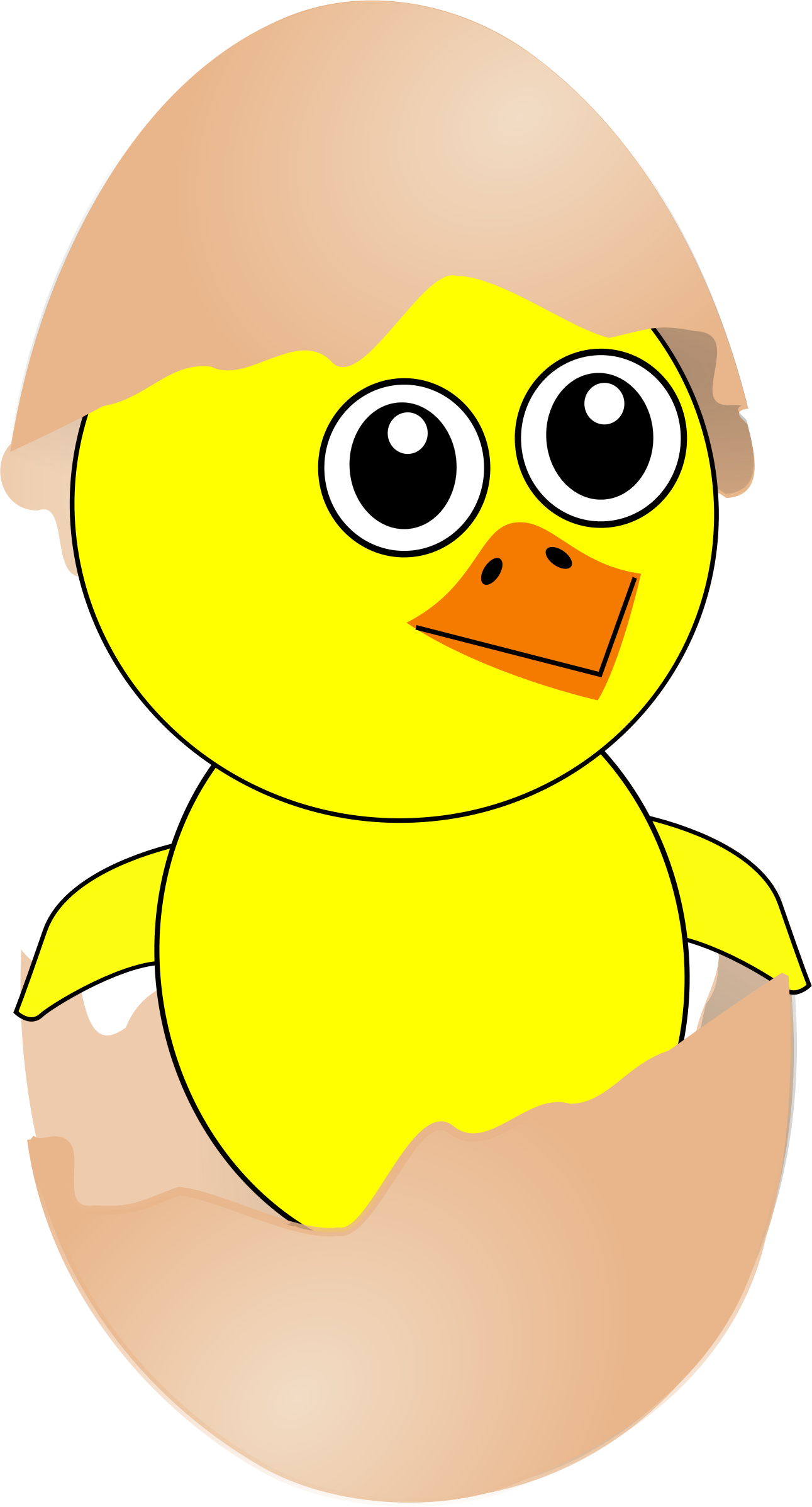 Easter chick cartoon clipart.