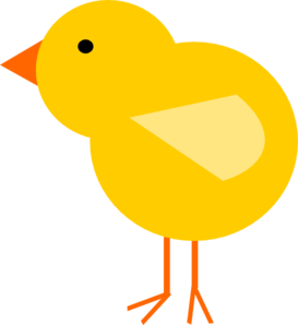 Yellow chick clipart.