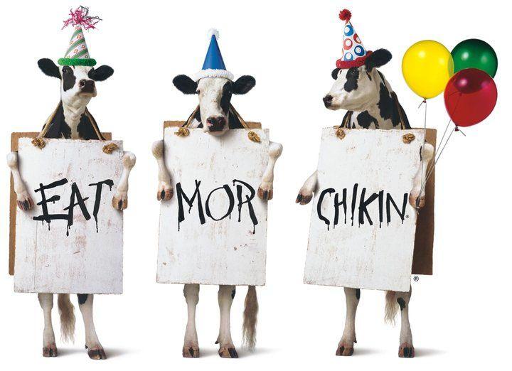 chick fil a cow clip art.