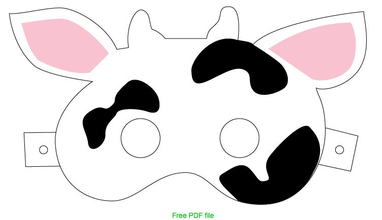 Printable cow mask for Chick Fil A's Cow Appreciation Day.