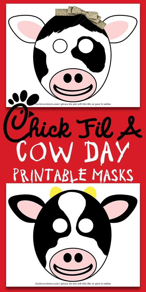 Chick Fil A Cow Mask.