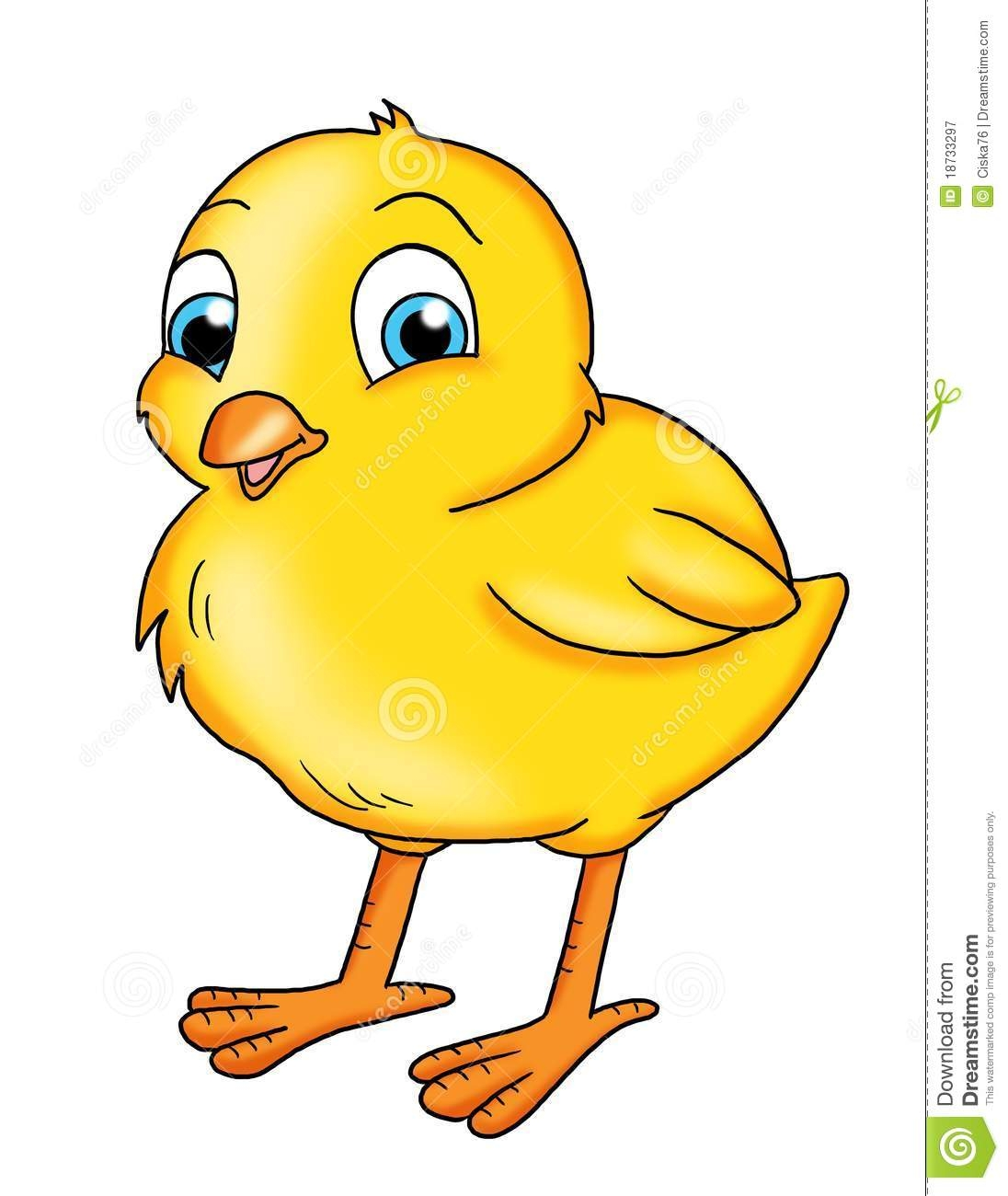 1724 Chick free clipart.