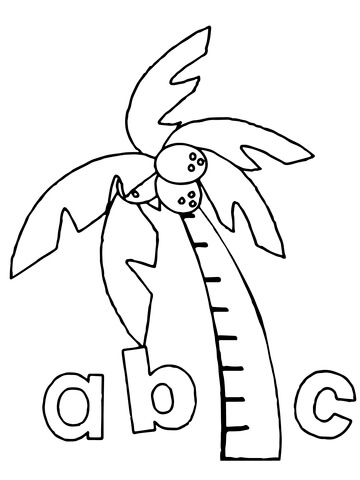Chicka Chicka Boom Boom Abc coloring page.