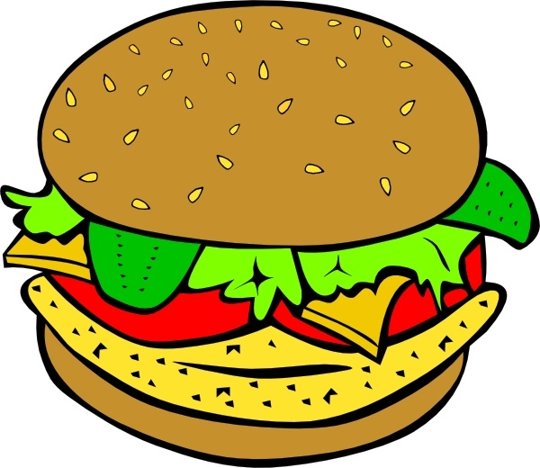 Chicken Burger clip art Free vector in Open office drawing svg.