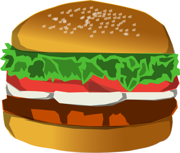Burger Clip Art at Clker.com.