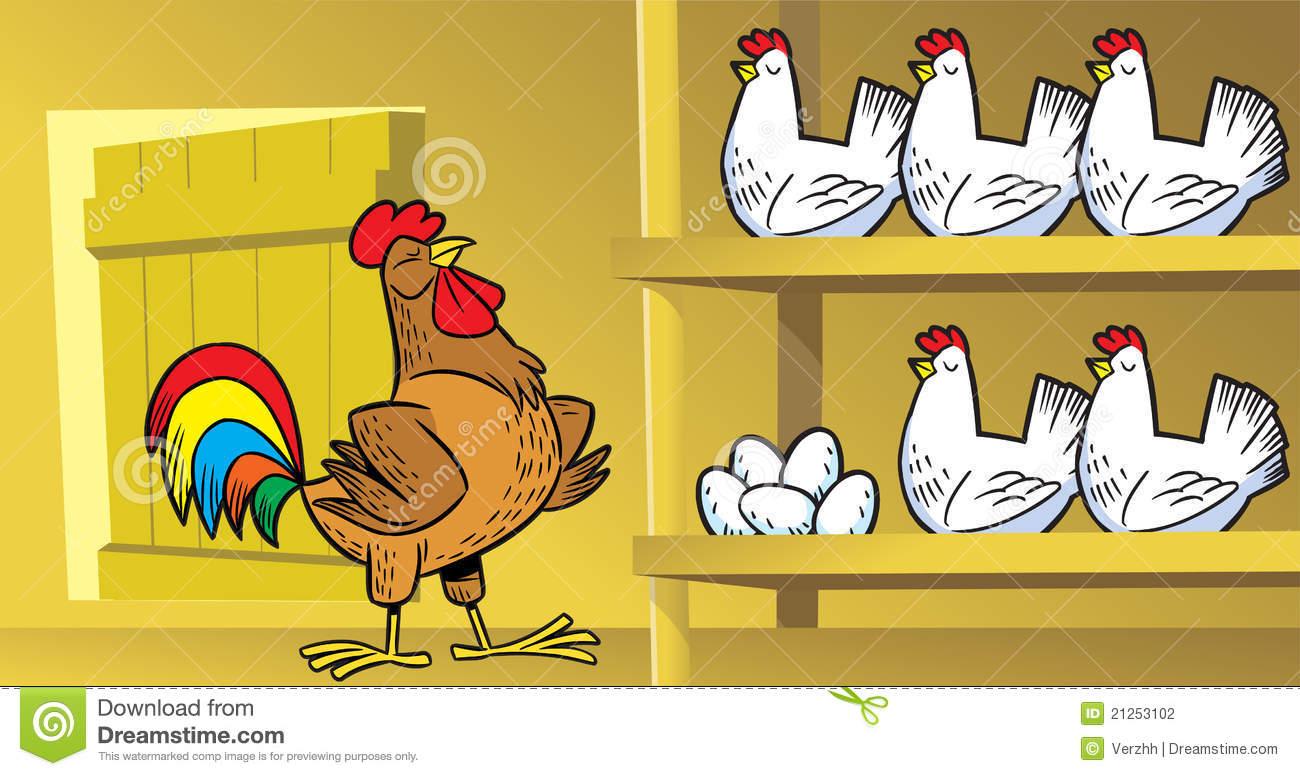 Chicken Coop Stock Illustrations.