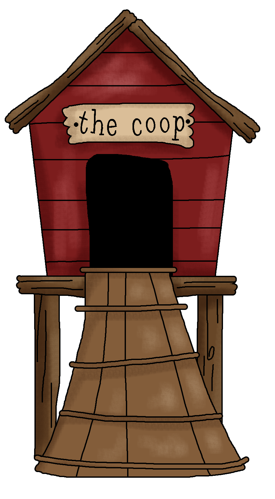 Chicken coop clipart.