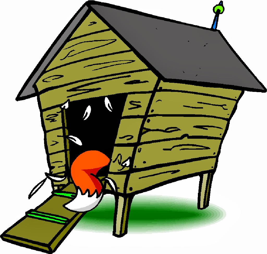 Chicken coop clipart.