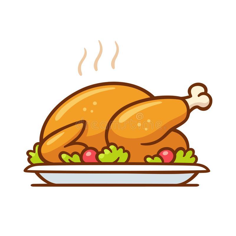 Chicken Dinner Stock Illustrations.