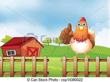 Farm Chicken Clipart.