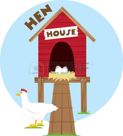 407 Chicken Coop Stock Vector Illustration And Royalty Free.