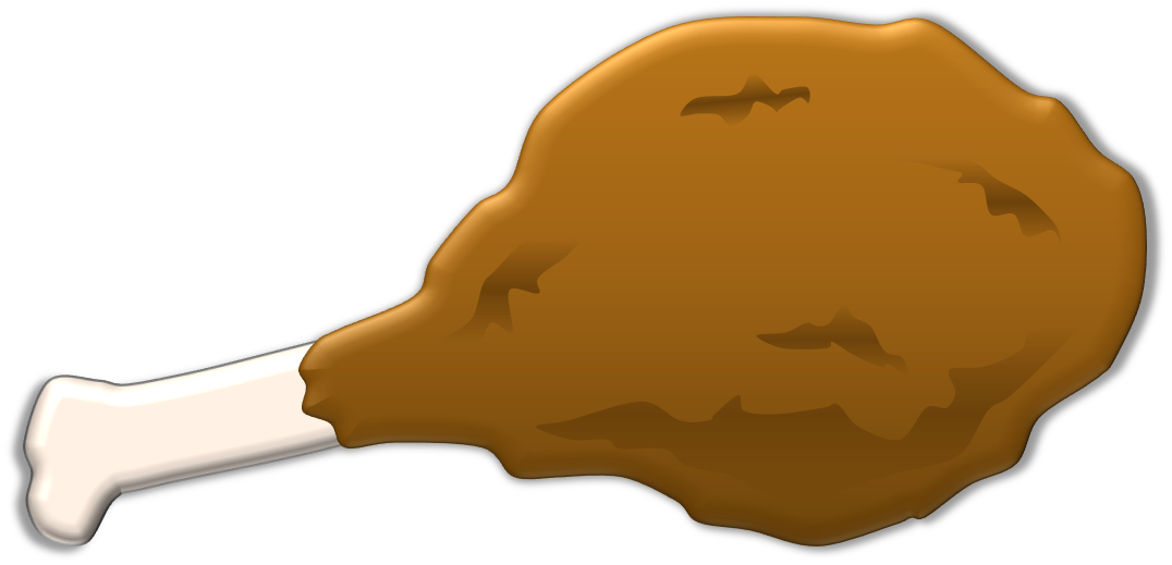 Chicken drumsticks clipart.