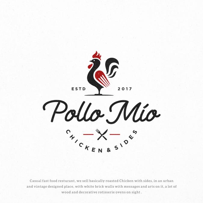 Roast Chicken Restaurant Logo Design by Mojo66.