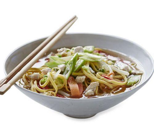 Chicken, vegetable & noodle soup.