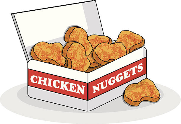 Best Chicken Nugget Illustrations, Royalty.