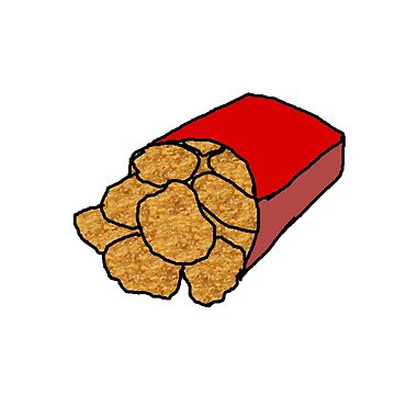 Realistic Chicken Nuggets Sticker By ShenaniganPants Redbubble Ideal.