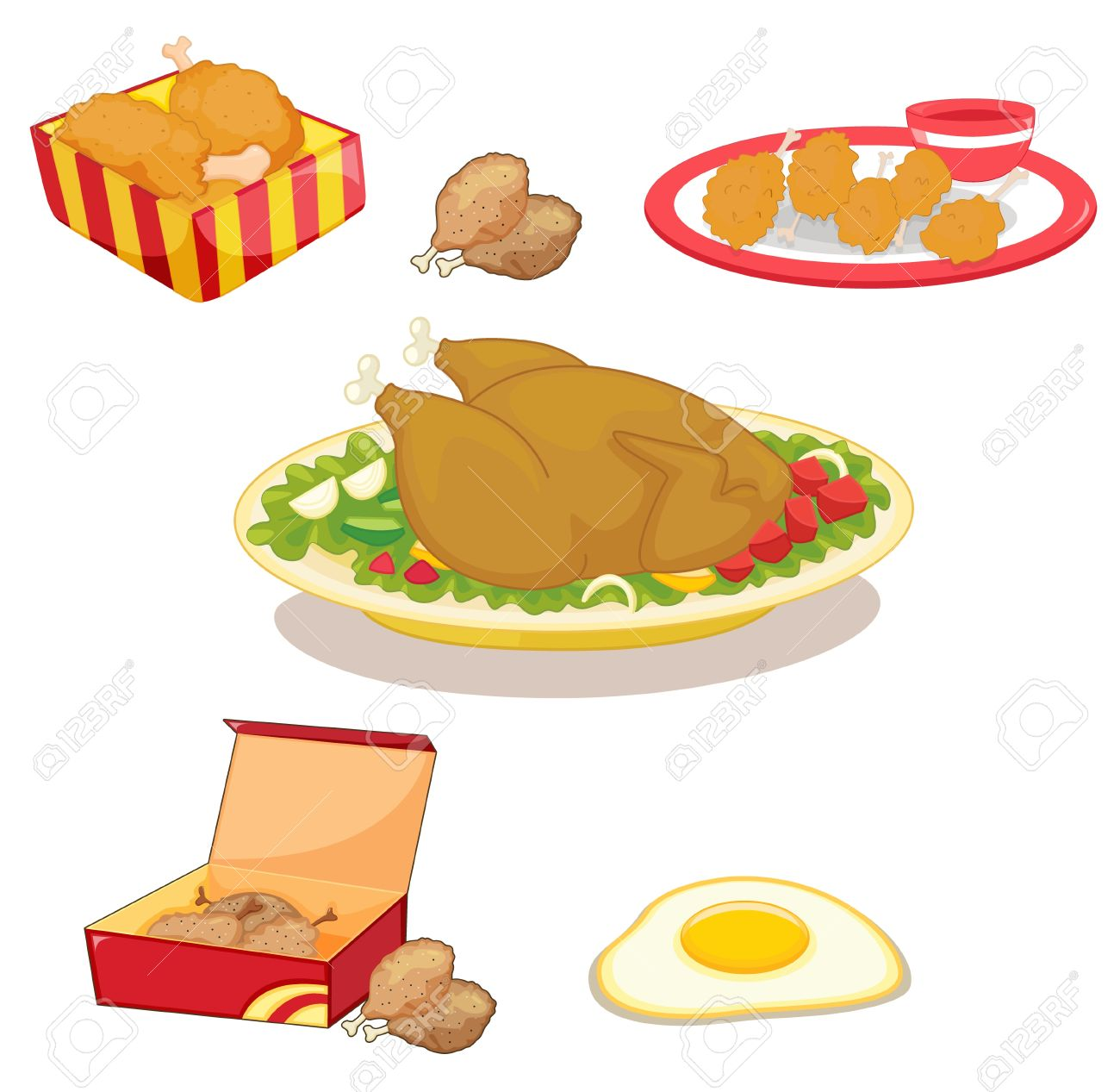 Illustration Of Mized Chicken Clipart Royalty Free Cliparts.