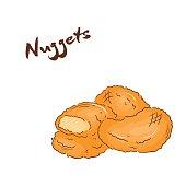 Chicken Nugget Clip Art, Vector Chicken Nugget.