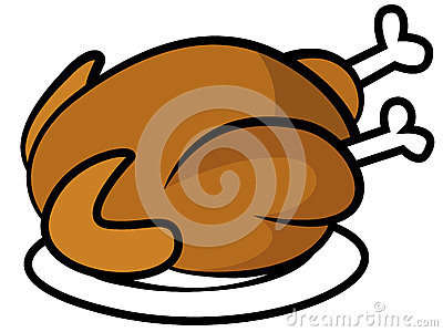 Chicken Or Turkey On Plate Royalty Free Stock Photos.