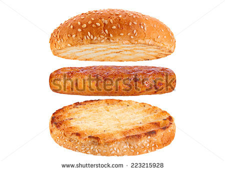 Hamburger Bun Stock Images, Royalty.