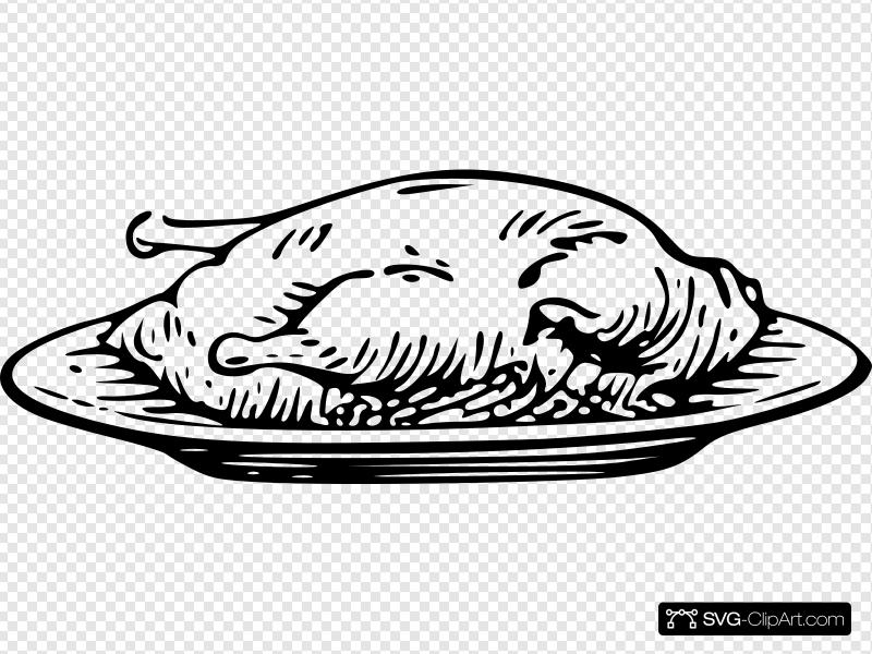 Chicken On Plate Clip art, Icon and SVG.