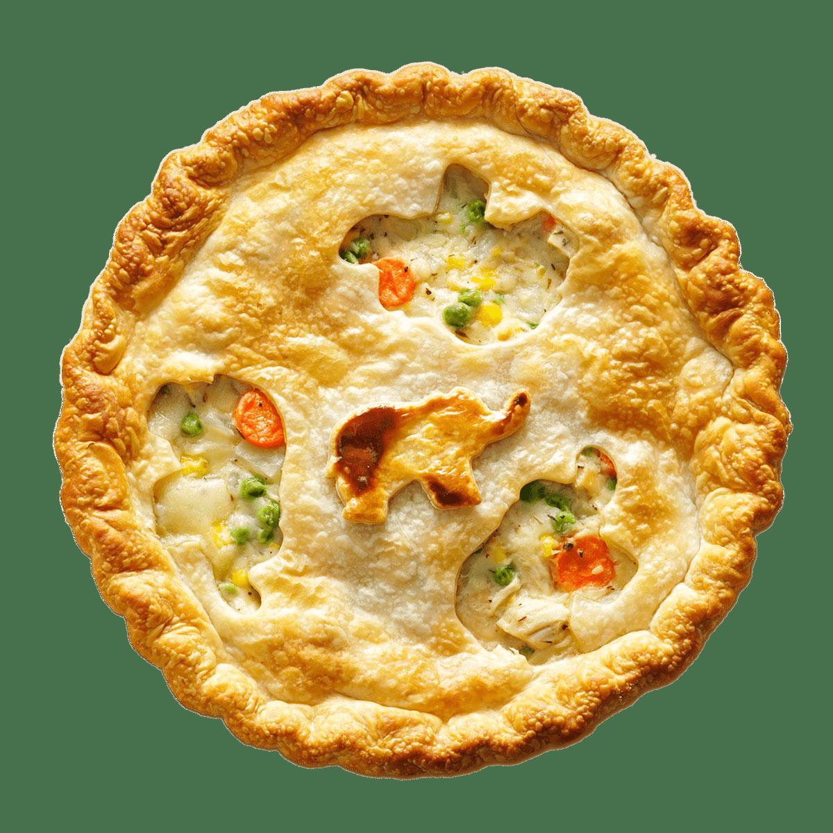 Chicken Pot Pie transparent PNG.