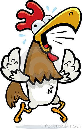Rooster Running Stock Illustration.