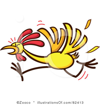 Running chicken clipart.