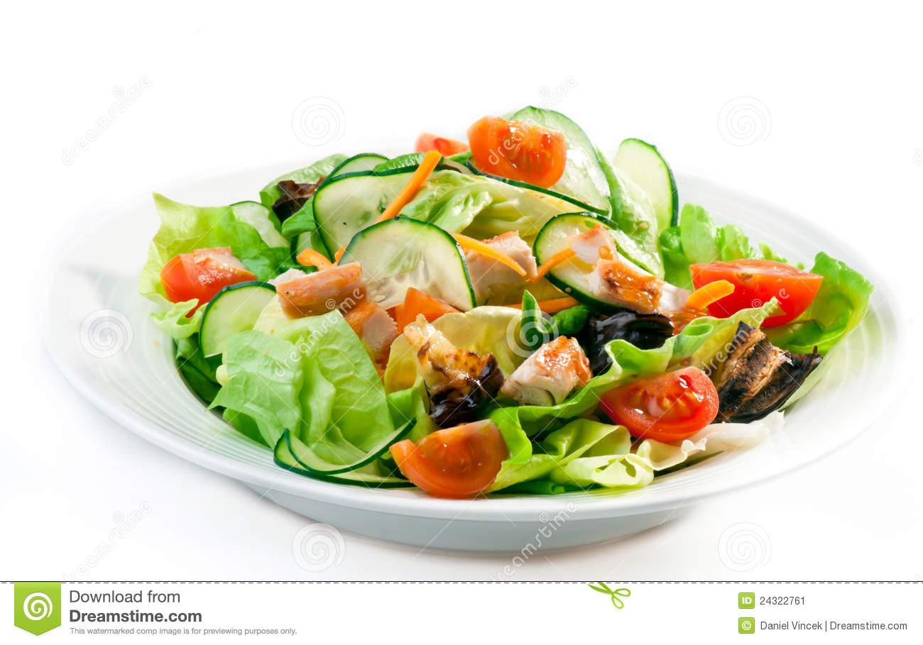 Chicken Salad stock image. Image of food, close, lettuce.