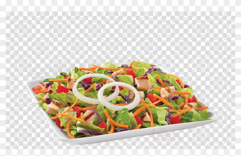 Download Grilled Chicken Garden Greens Salad Clipart, HD Png.