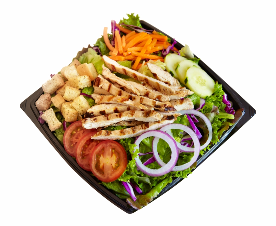 Habit Burger Salad Png.