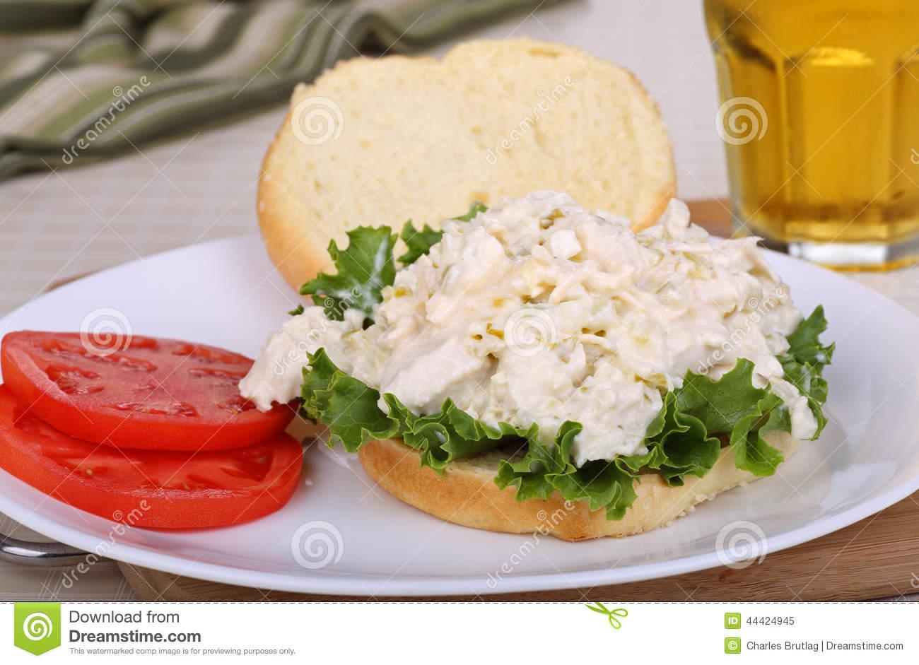 Chicken Salad Sandwich Stock Photo.