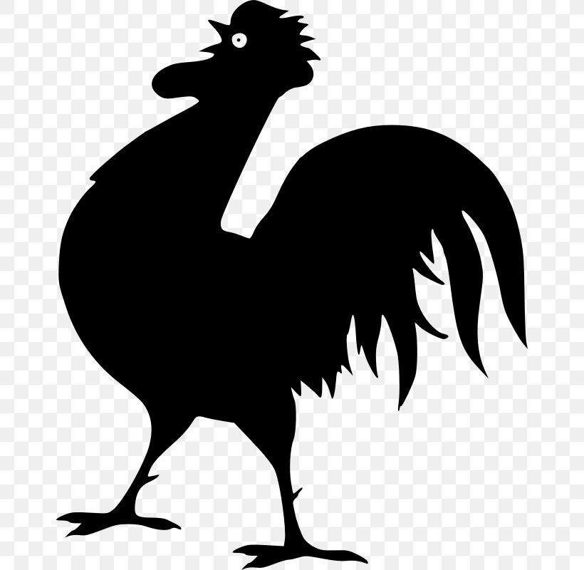 Chicken Silhouette Broiler Rooster Clip Art, PNG, 662x800px.
