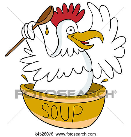 Chicken Soup Clip Art.