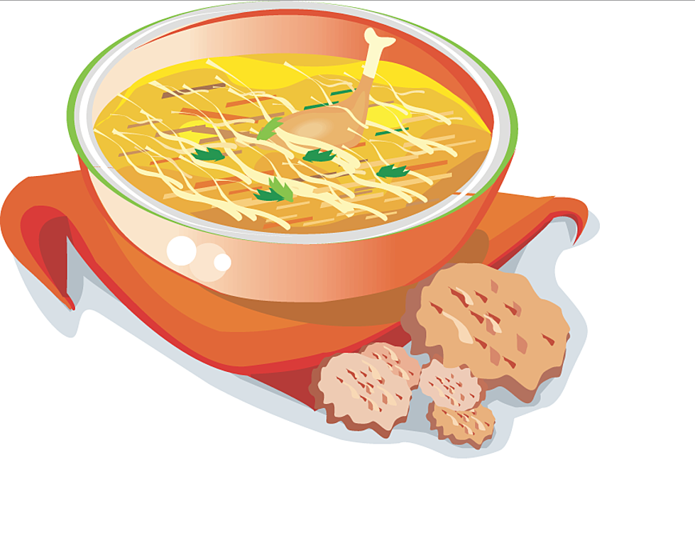 Mom's Response To A Cold Winter Day? Hot Chicken Soup!.