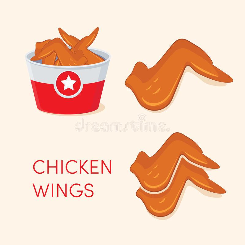 Chicken Wings Stock Illustrations.
