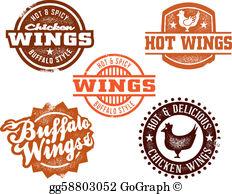 Chicken Wings Clip Art.