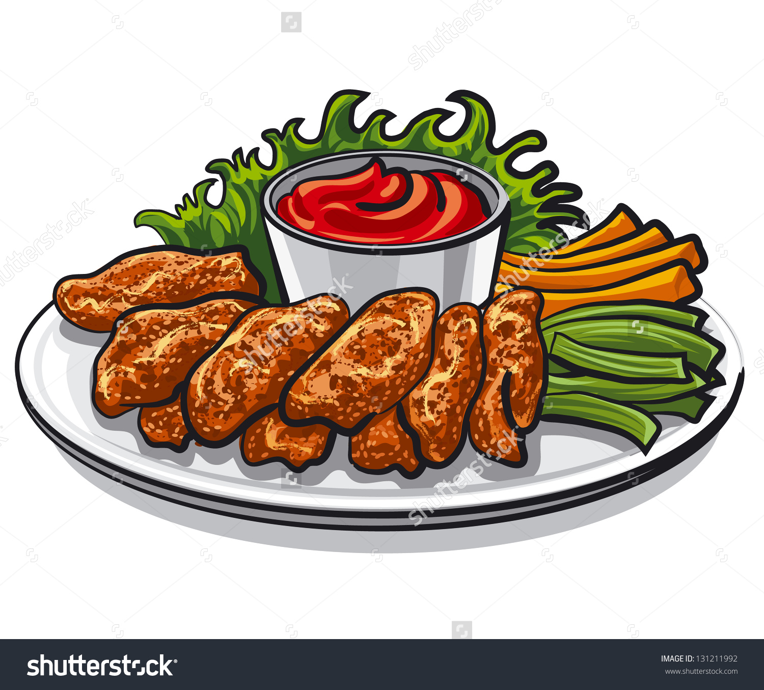 Chicken wings clip art.