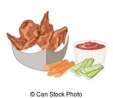 clipart of chicken wings #11