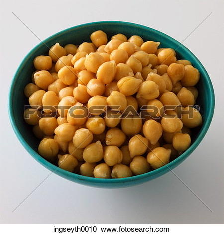 Stock Photography of chickpeas, pulses, bowl, chickpea, chick pea.