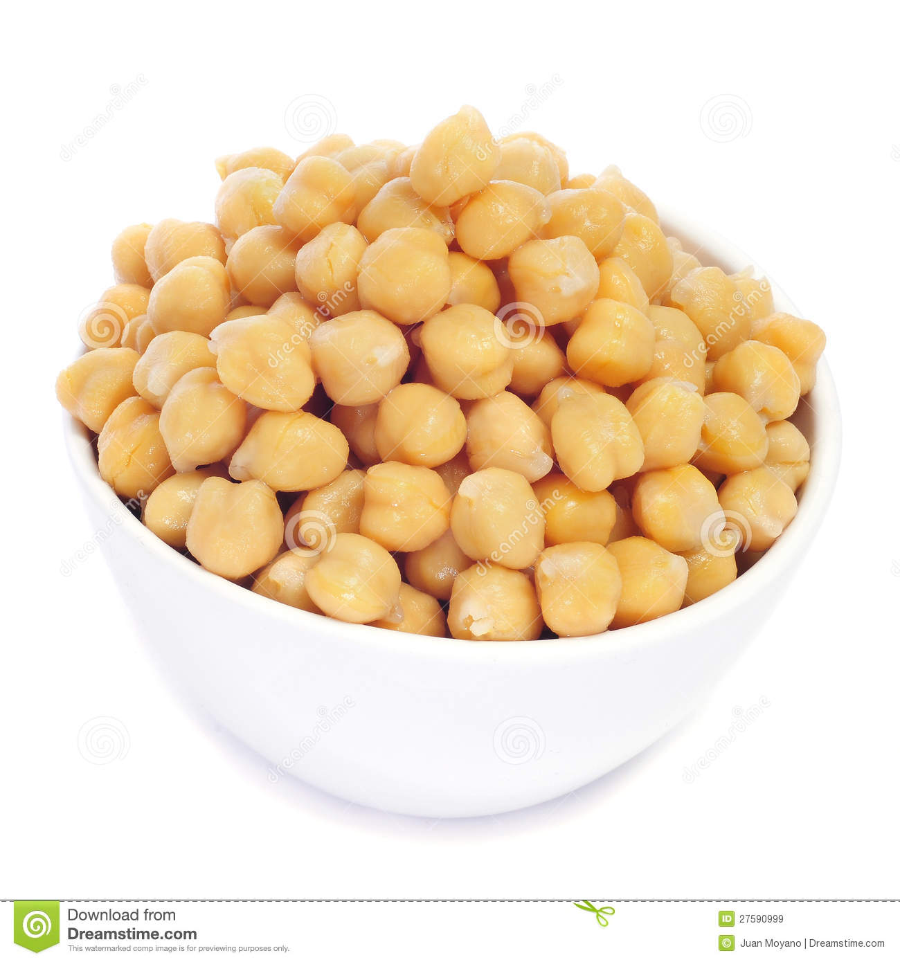Boiled Chickpeas In A Bowl Royalty Free Stock Photography.