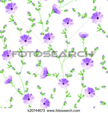 Clipart of Chicory pattern. k20744673.