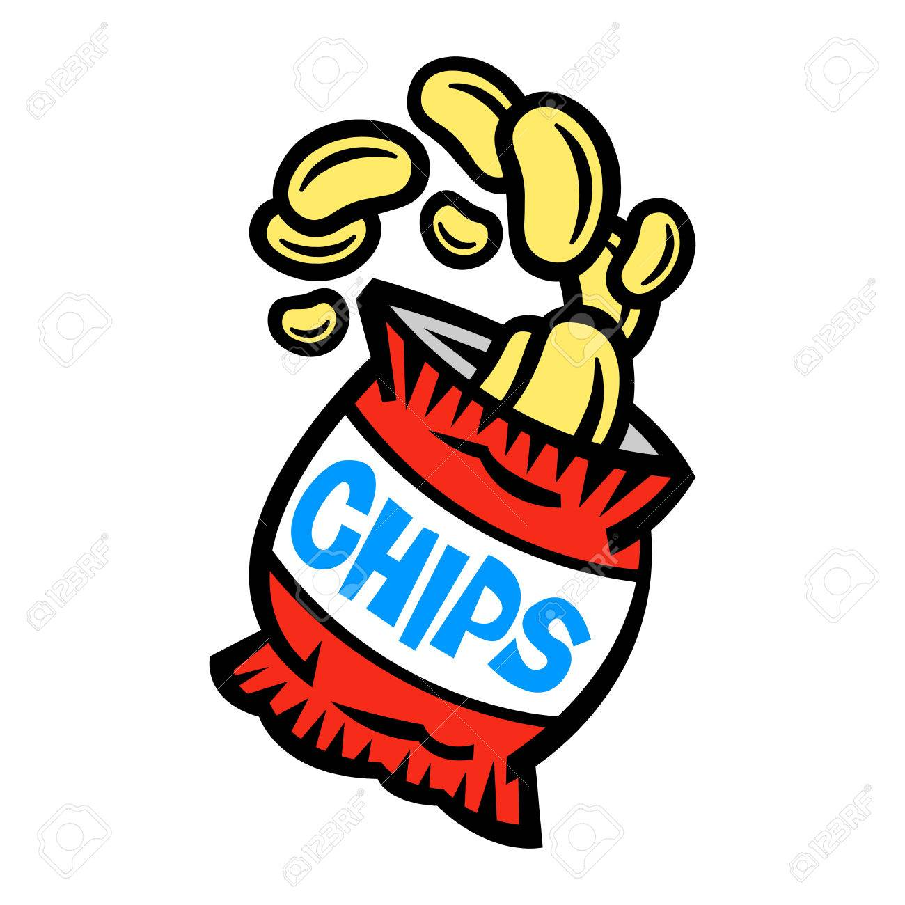1358 Chips free clipart.