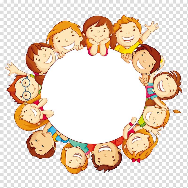 Child Circle , Cute kids, children illustration transparent.