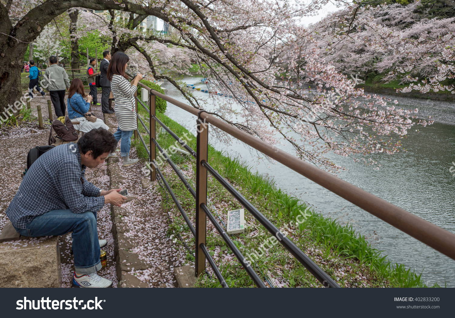 Tokyo Japan April 7th 2016 Tourist Stock Photo 402833200.