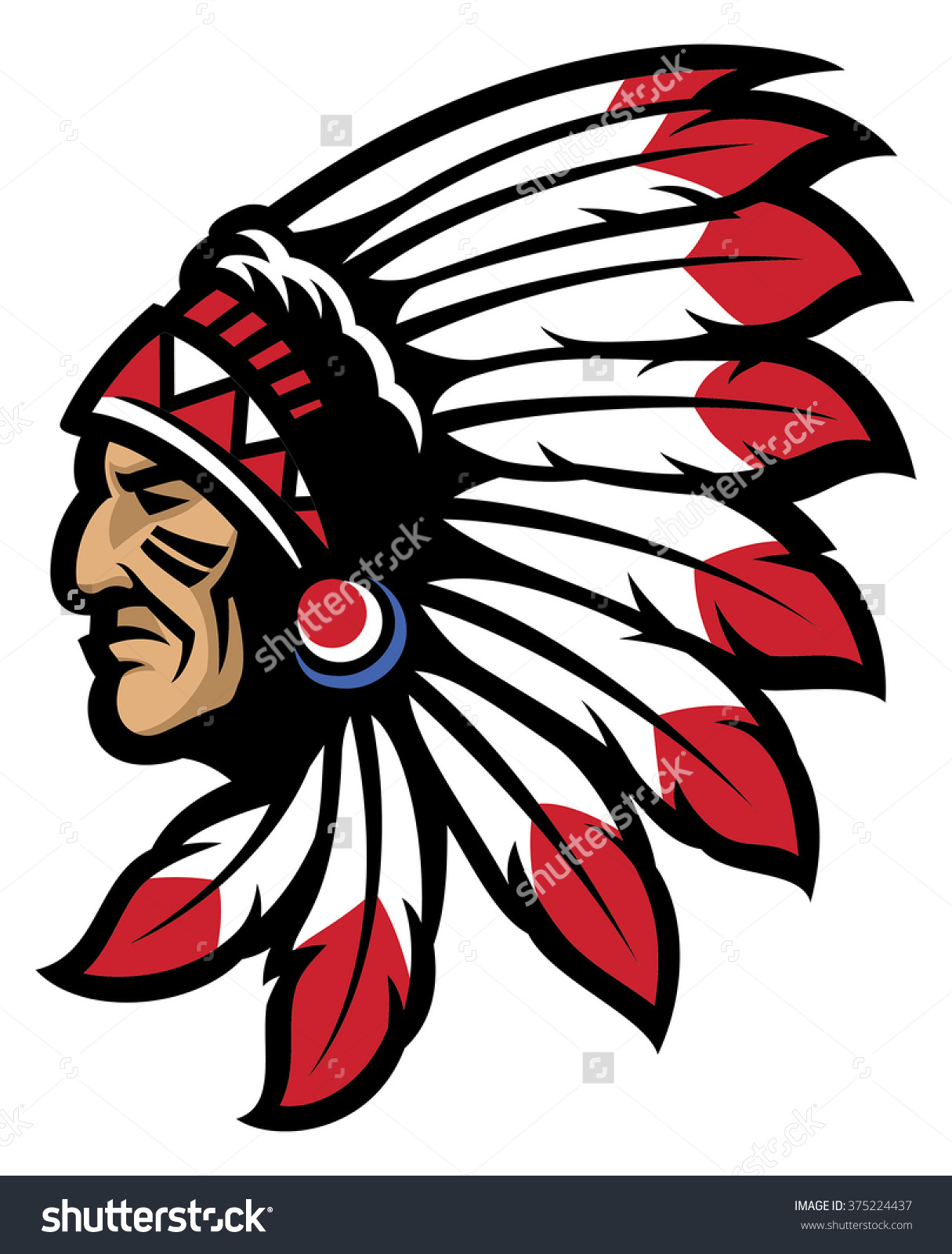 Chief Head Clip Art.