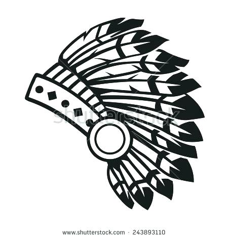 Indian Headdress Drawing.